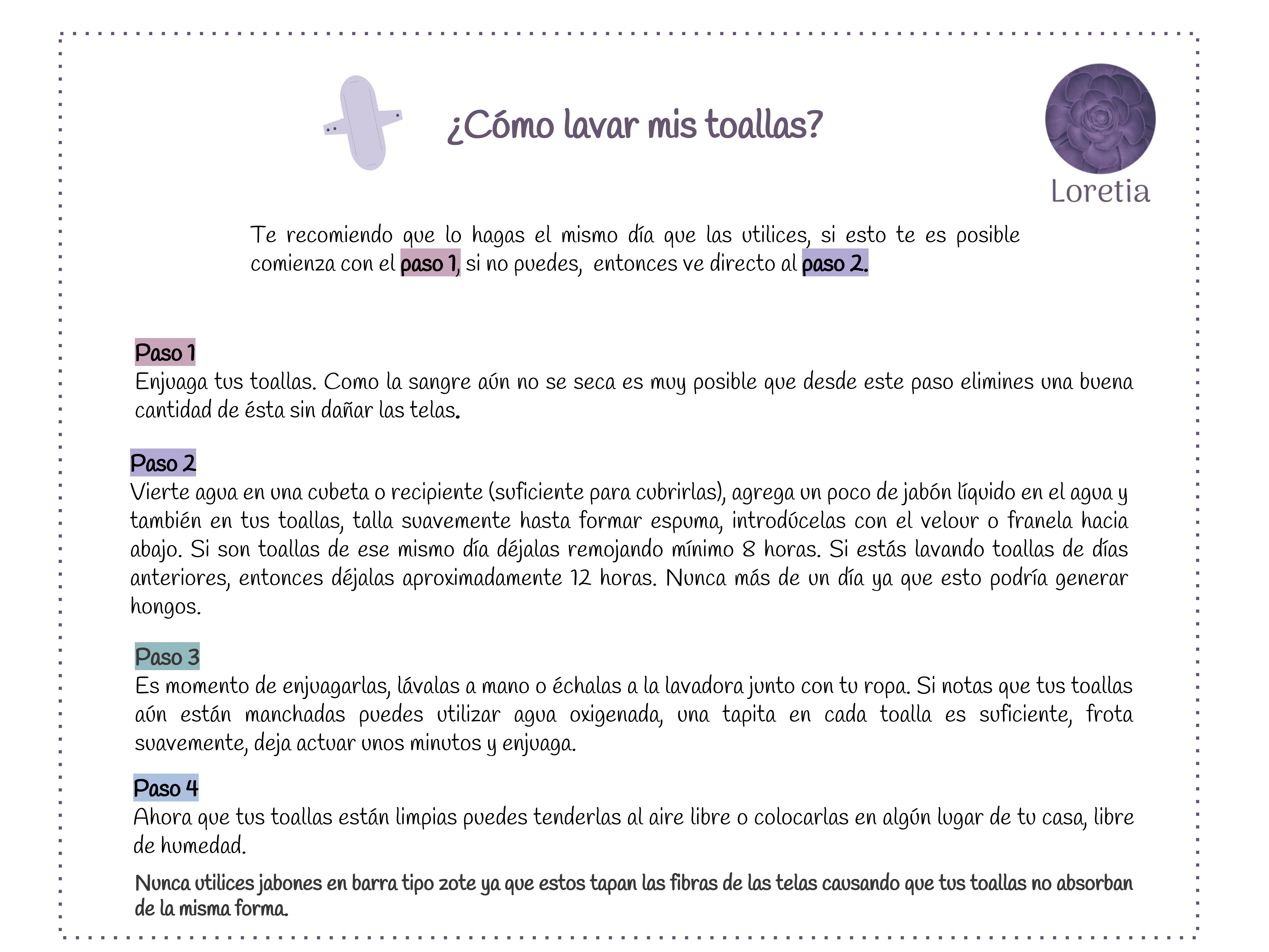 INSTRUCCIONES DE LAVADO-LORETIA