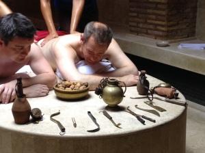 Roman oil bath
