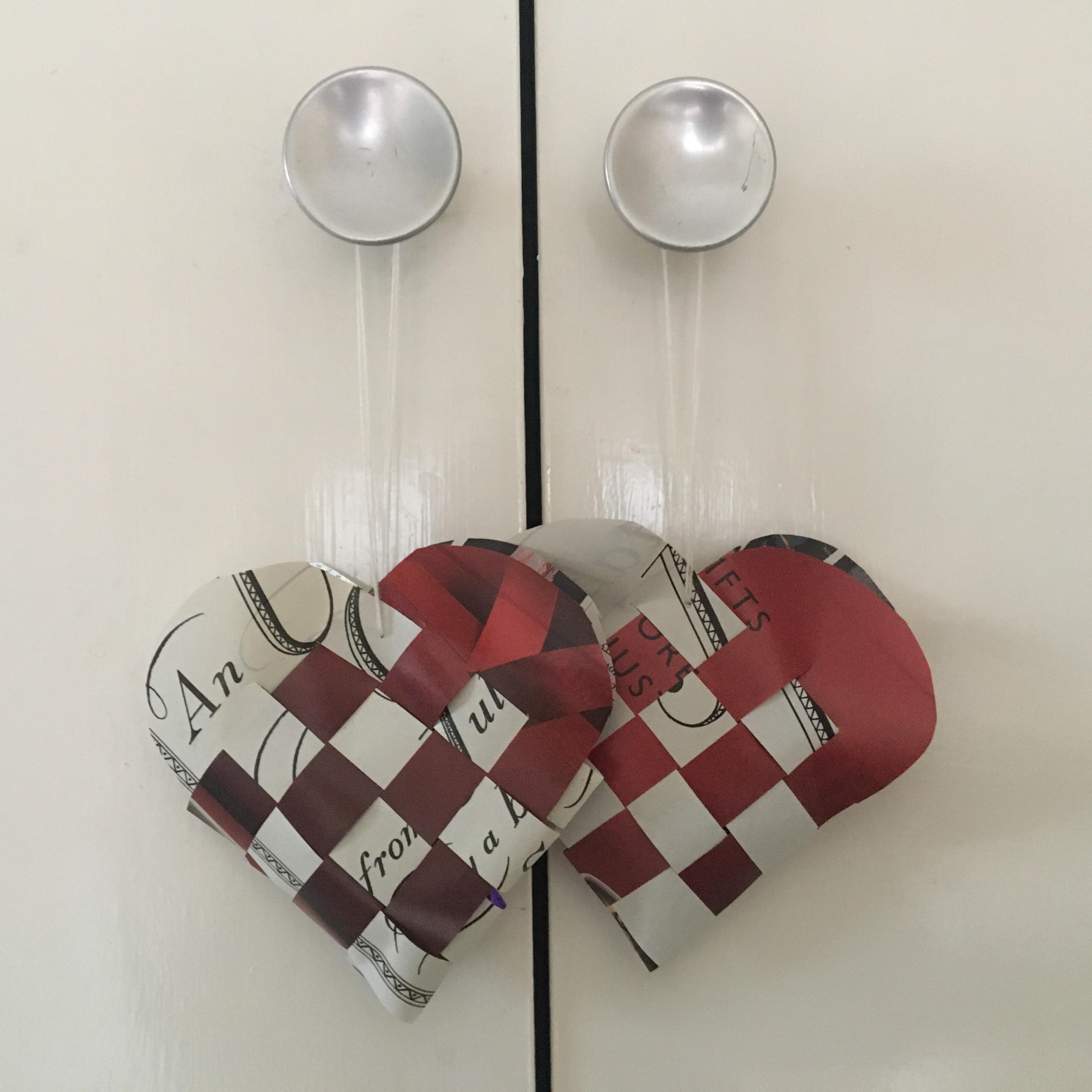 corazones tejidos suecos